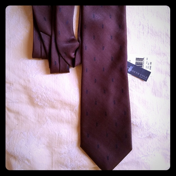 Kenneth Cole Other - NWT! Sleek, Kenneth Cole Chocolate tie